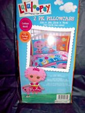 """LALALOOPSY 2-PACK 2-SIDED COTTON BLEND PILLOWCASES-20"""" X 30""""-200 THREAD COUNT"""