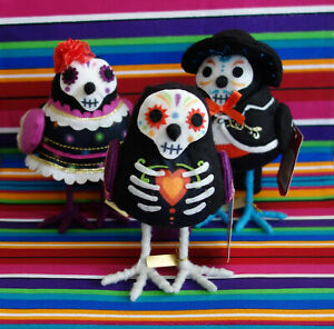* WOW! HALLOWEEN DAY OF THE DEAD BIRDS TRIO * DIA DE MUERTOS * 2018 * TARGET *