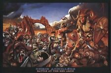 CHRIS ACHILLEOS ~ BATTLE AT RED ARCH 24x36 FANTASY ART POSTER Knights