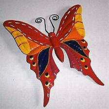 "BUTTERFLY COLORFUL GARDEN DECOR  12 1/4"" X 12 3/4""  Metal"