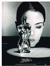 PUBLICITE ADVERTISING 045  1999  JEAN PAUL GAULTIER  parfum femme CLASSIQUE
