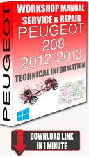 Service Workshop Manual & Repair PEUGEOT 208 2012-2013 +WIRING   FOR DOWNLOAD