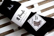 3 PAIRS - PRINGLE Black Cotton Rich Crew Sports Socks UK foot 7-11 , Eu40-46