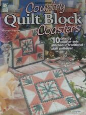 New listing Country Quilt Block Coasters Plastic Canvas Needlepoint Pattern Booklet