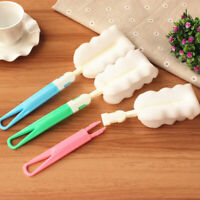 Kitchen Handle Sponge Brush Bottle Cup Glass Washing Cleaning Cleaner Tool