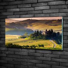 Glas-Bild Wandbilder Druck auf Glas 100x50 Deko Landschaften Toskana Italien