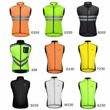 Mens Cycling Vest Bicycle Sports Gilet Wind Coat Sleeveless Gilet Reflective Top