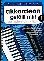 Akkordeon Noten : Akkordeon gefällt mir - 50 chart & film Hits 1  Spiralbindung