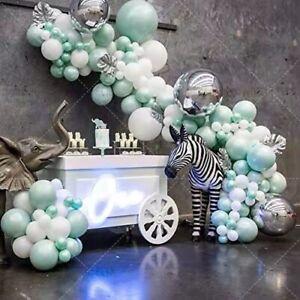 138pcs Tiffany Blue Mint Balloon Arch Kit Garland Birthday Wedding Party DIY