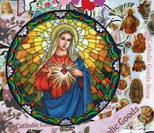 Immaculate Heart of Mary - Static Cling Reusable Vinyl Window Decal Sticker