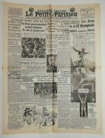 N659 La Une Du Journal Le petit Parisien 5 août 1936 jeux de la XI olympiade