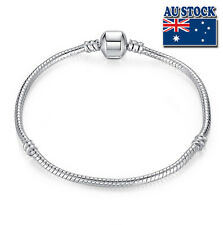 20cm Silver Filled Clasp Bracelet Chain Antique DIY Style Gift