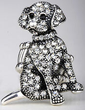 Dog stretch ring cute animal bling scarf jewelry gift dropshipping silver