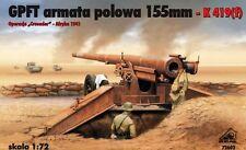 GPFT/ K 419(f) 155mm FIELD GUN (GERMAN AFRIKA KORPS & FRENCH MKGS)72602 1/72 RPM