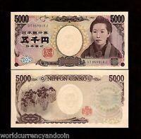 JAPAN 5000 5,000 YEN P105b 2004 HOGUCHI NOVELIST PAINTING UNC BILL MONEY NOTE