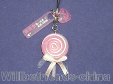 Lollipop Cell Phone Flash Charm Mobile Phone Strap Pink