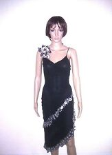 KAREN MILLEN Silk Evening Dress. Black. Cocktail Party, Formal, Occasion. SIZE 8