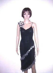 KAREN MILLEN Silk Evening Dress. Black. Cocktail Party, Formal, Occasion. SIZE 8