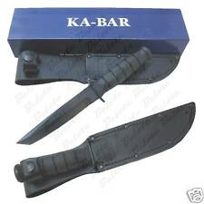 Ka-Bar Knives Short KaBar Black Tanto Plain Edge 1254