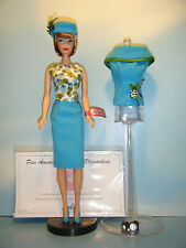 PAN AMERICAN NUDE BARBIE IN REPRODUCTION FASHION EDITOR #1635 w/COA & DOLL STAND