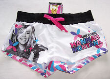 Disney Hannah Montana Girls White Printed Board Shorts Size 12 New