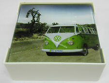 New Novelty Rustic Country 6 Glass Combi Kombi Coasters In A Holding Tray