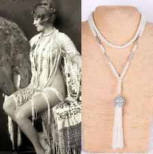 1920's Pearl Necklace Chain FLAPPER Vintage Fancy Dress Party GATSBY