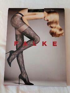 """Falke """"Leaves Dream"""" Fashion Tights, Black, L"""