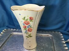 "Lenox Floral ""Forget Me Nots� 8'' flared Large Vase Mint"