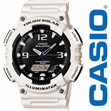Casio Men's AQS810WC-7AVCF Analog-Digital Display Quartz Solar Power White Watch
