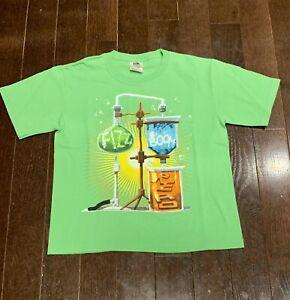 NWOT Medium Neon Lime Green Science Stem Shirt