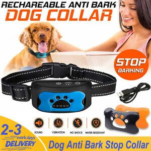 Dog Anti Bark Collar Stop Barking Sound & Vibration Adjustable S/M/L 3 Shell KE