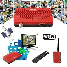 Mini Size DVB-S2 Receiver TV BOX + Wifi Dongle for Youtbe Internet Radio IPTV