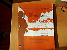 Vintage Us Army 1985 Fm 19-15 Civil Disturbances Manual Book