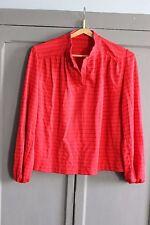 Vintage - Costume femme Jupe + chemisier - Rouge à rayures - Années 70 - Femme