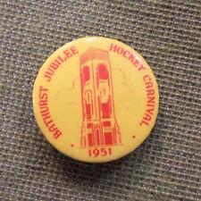 #D293. 1951 Bathurst Jubilee Hockey Carnival Tin Badge