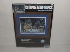 "NOS 1999 Dimensions Counted Cross Stitch Kit ""Walking to Town"" 3899"