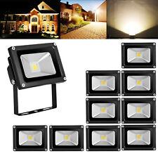 10X 10W LED Fluter Außen Strahler Scheinwerfer Lampe Flutlicht Licht Warmweiß