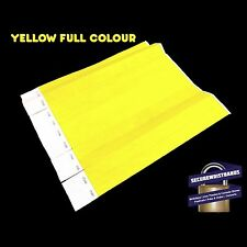 200 x Tyvek Party, Event, ID Wristbands Yellow Full Colour
