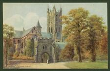 A.R.Quinton. The Dark Entry & Cathedral, Canterbury - Artist Drawn Postcard