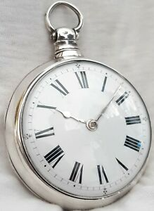 Verge Pocket Watch. Silver Paircase *(FULL WORKING ORDER) *1823* Liverpool.