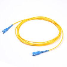 3M Fiber Optic SingleMode Simplex Core Patch 9/125 Optical Cable SC to SC Yellow