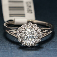 VERRAGIO DIAMOND ENGAGEMENT RING 18K WHITE GOLD 0356S