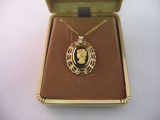 Vintage Womans Jewelry Necklace: GORGEOUS WOMANS PORTRAIT PROFILE