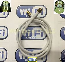 White RG58U 3M (10 Feet) WiFi Antenna RP-SMA Extension Cable WiFi Wi-Fi Router