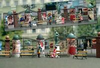 BUSCH 1135 - Set elementi per pubblicità da strada. Scala H0