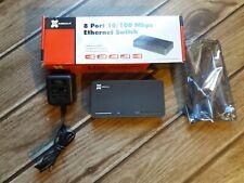 8 Port Fast Ethernet 10/100Mbps Switch RJ45 Lan Hub Adapter for Router & Modem