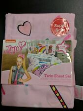 JoJo Siwa Dream Crazy Twin Sheet Set 1 Flat, 1 Fitted, 1 Pillow Case New In Pack