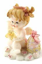 """5 Baby Fairy with a Bird 2.5"""" Tall Polyresin Figurine"""