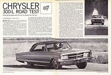 1965 CHRYSLER 300-L 413/360 HP ~ ORIGINAL 6-PAGE ROAD TEST / ARTICLE / AD